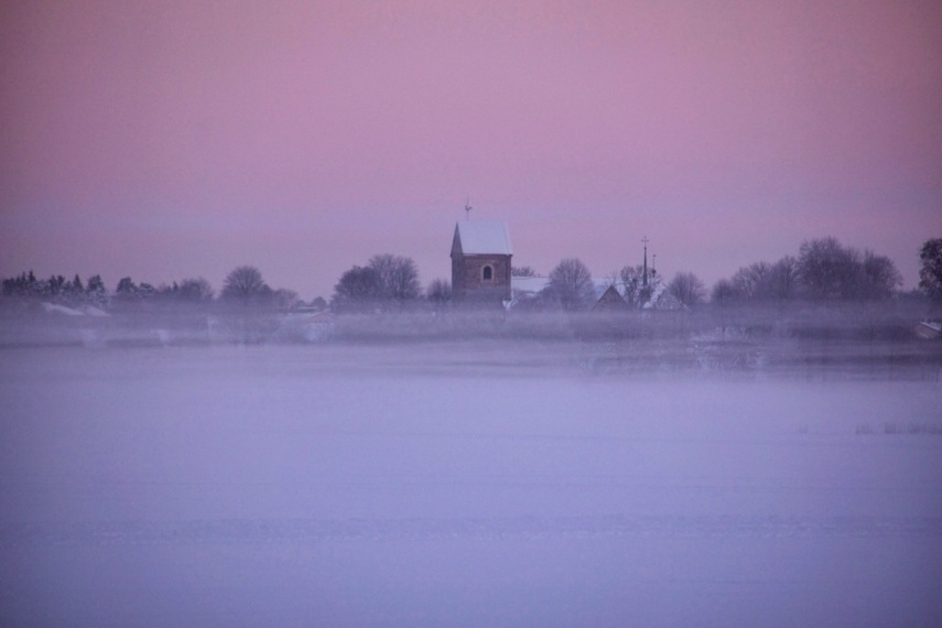 Freezing cold pink fog