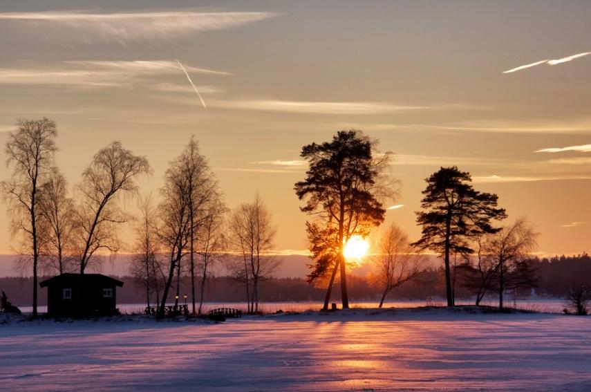 Winter susnset