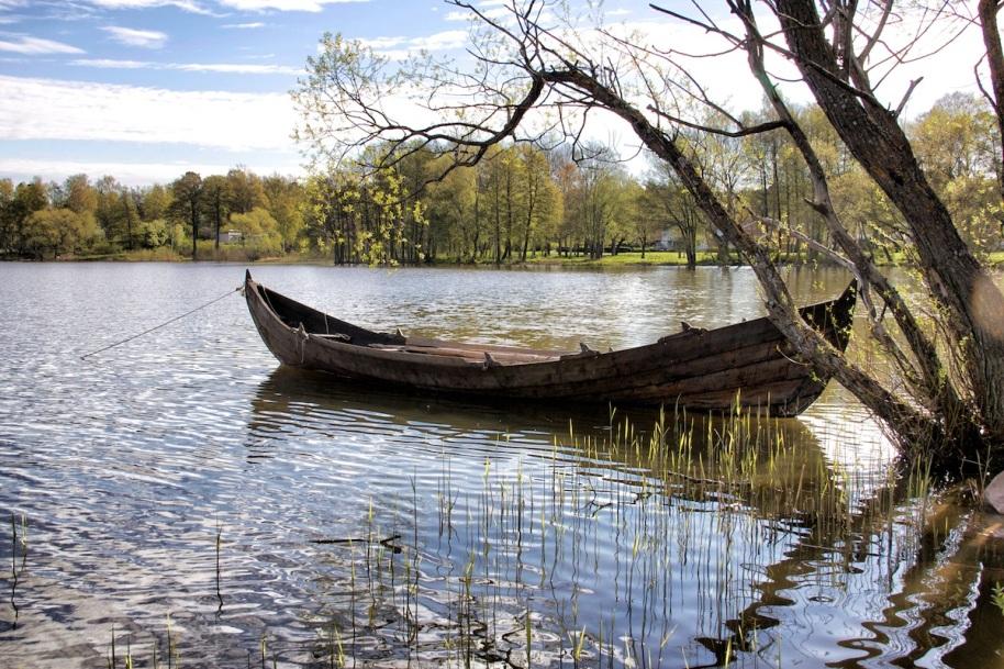 Boat in sun