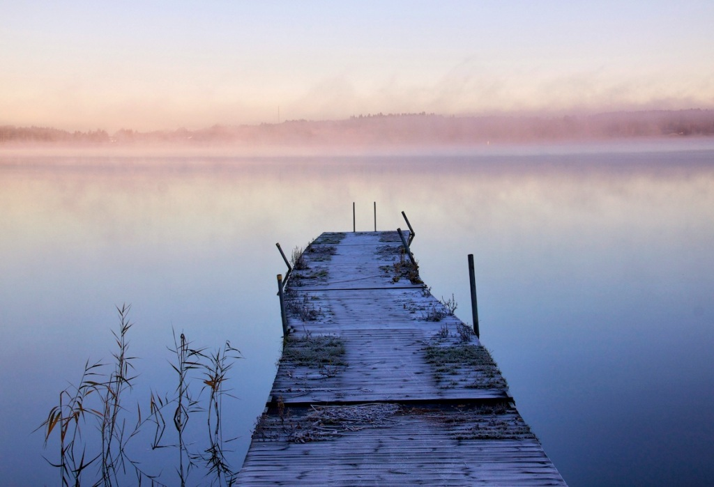 Frosted jetty