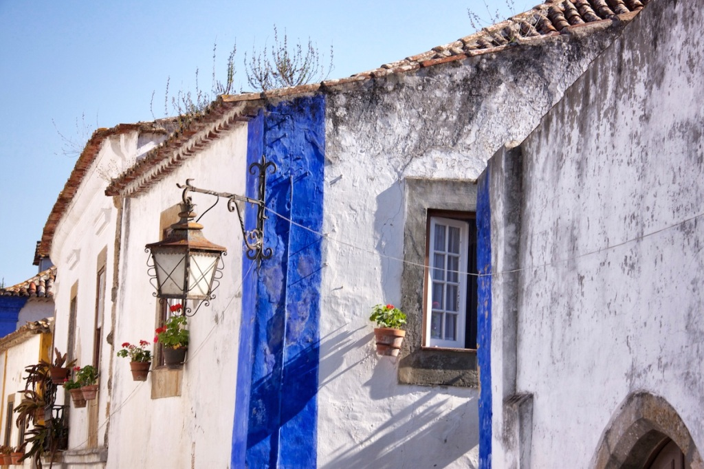 Blue striped house