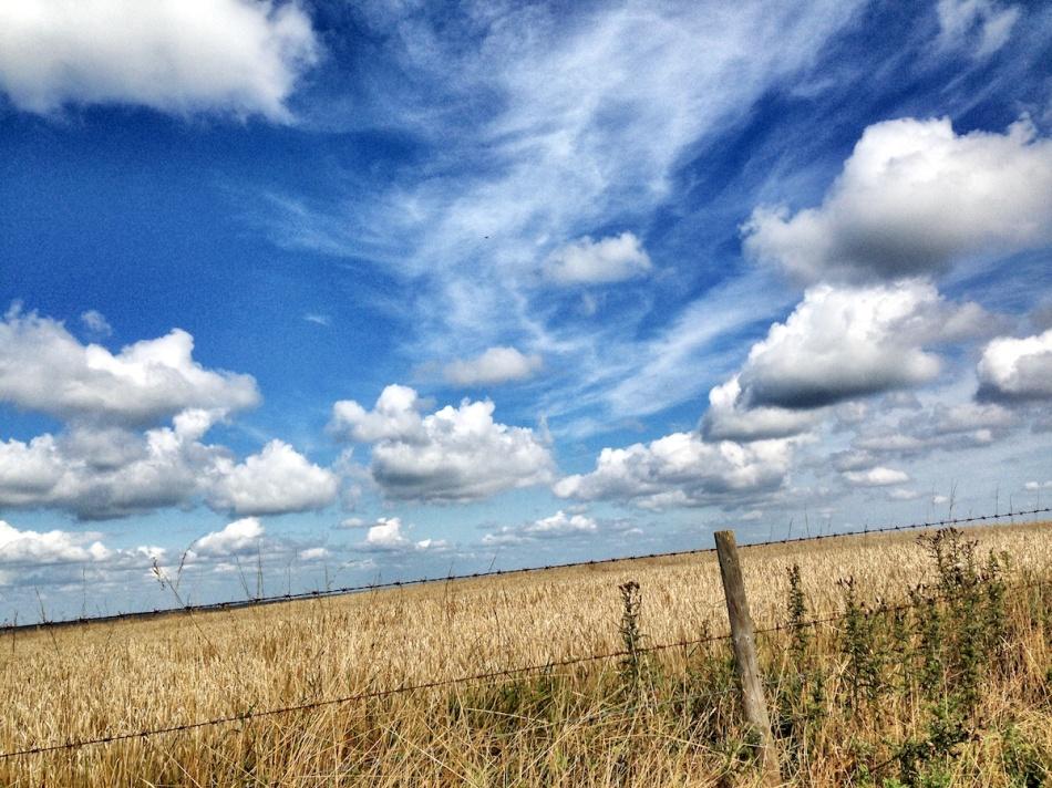 Blue swirls sky