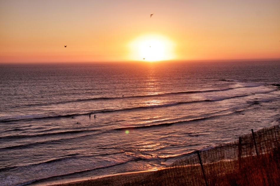Sunset surf 1